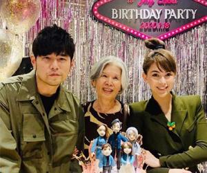周杰伦生日派对现场照 幸福满满的一家人