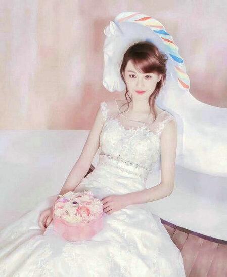 影视剧中最美婚纱造型 白衣一笑冉冉动人5.jpg