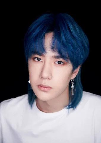 王一博蓝发造型