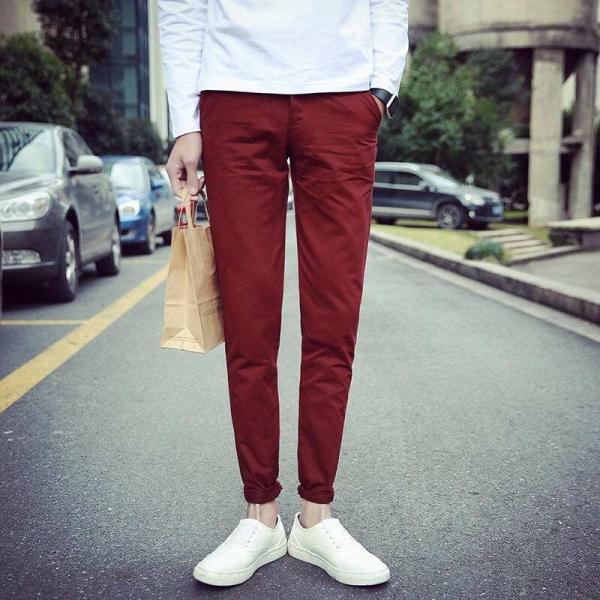 酒红色裤子搭配_成熟女性酒红色裤子怎么穿搭3.jpg