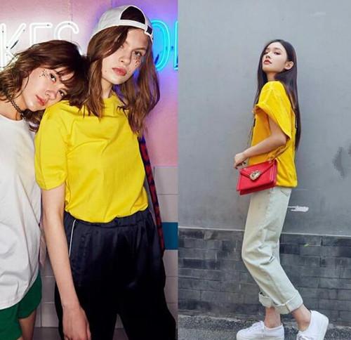 夏天怎么少得了明亮的黄色t恤呢?五种黄色t恤搭配非常抢眼3.jpg