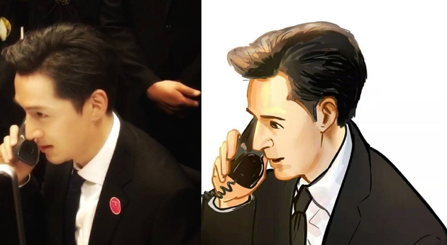 胡歌换自己漫画版头像 老胡终于直视自己的美貌了吗?3.png