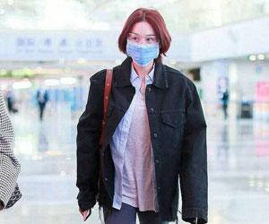 张馨予机场穿搭被拍 非营业时间穿的舒服就好