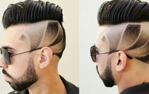 男生短发雕刻发型大全 流行型男刀疤头发型图片