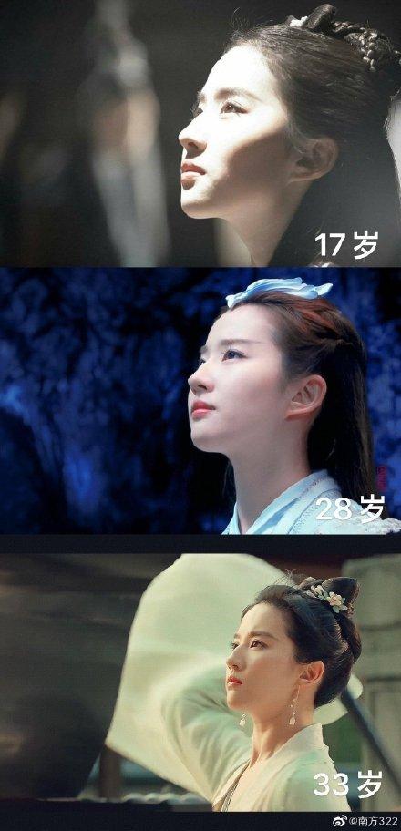 17岁28岁33岁的刘亦菲 果然美人在骨不在皮